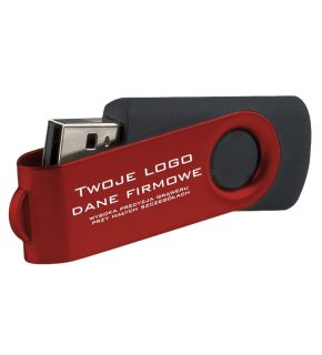 Pendrive reklamowy Twister 16 GB - PD-6 + grawer gratis !
